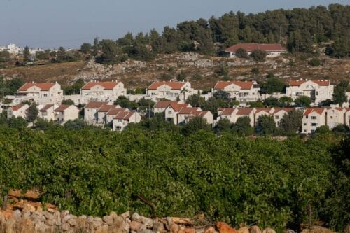 A picture taken on June 30, 2020 from the West Bank village of al-Khader near the biblical town of Bethlehem shows the illegal Israeli settlement of Efrat [HAZEM BADER/AFP via Getty Images]