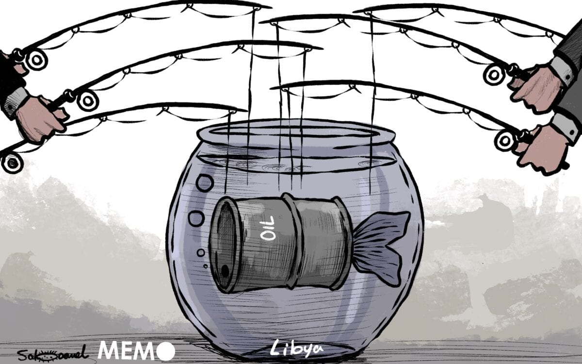 Many nations are trying to interfere in Libya's affairs- Cartoon [Sabaaneh/MiddleEastMonitor]