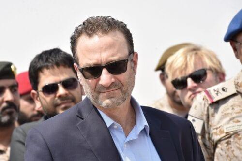 US Assistant Secretary of Near Eastern Affairs David Schenker (C) in Saudi Arabia on 5 September 2019 [FAYEZ NURELDINE/AFP/Getty Images]