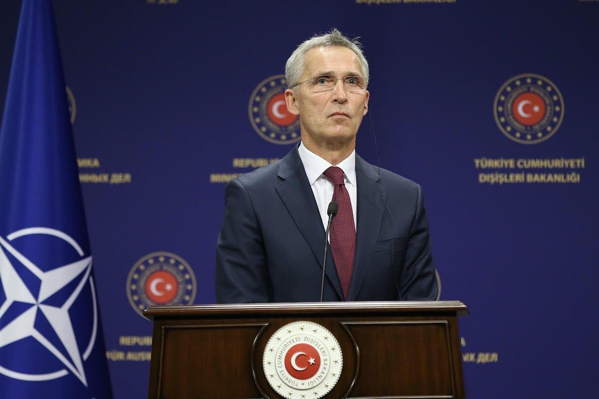 NATO Secretary General Jens Stoltenberg in Ankara, Turkey on 5 October 2020 [Fatih Aktaş/Anadolu Agency]