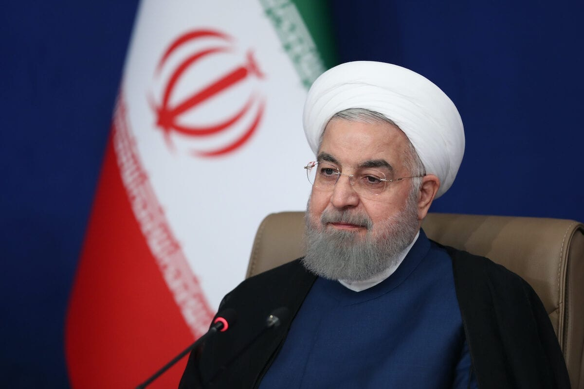 Iranian President Hassan Rouhani speaks on US sanctions on October 5, 2020 in Tehran, Iran [Iranian Presidency/ Handout/Anadolu Agency]