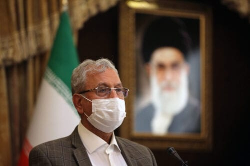 Iranian Government Spokesperson Ali Rabiei answers the press members questions as he holds a press conference in Tehran, Iran on October 06, 2020 [Fatemeh Bahrami/Anadolu Agency]