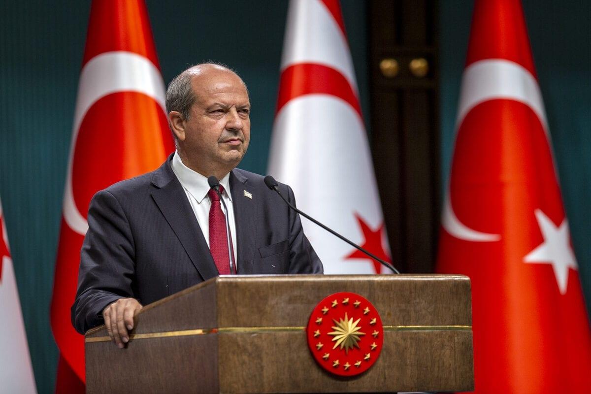 Turkish Cypriot Prime Minister Ersin Tatar in Ankara, Turkey on October 06, 2020 [Ali Balıkçı/Anadolu Agency]