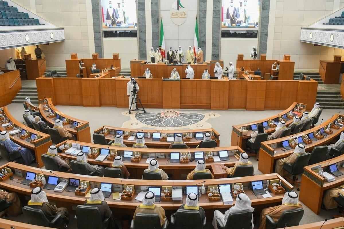 Kuwaiti parliament in Kuwait City on 8 October 2020 [Jaber Abdulkhaleg/Anadolu Agency]