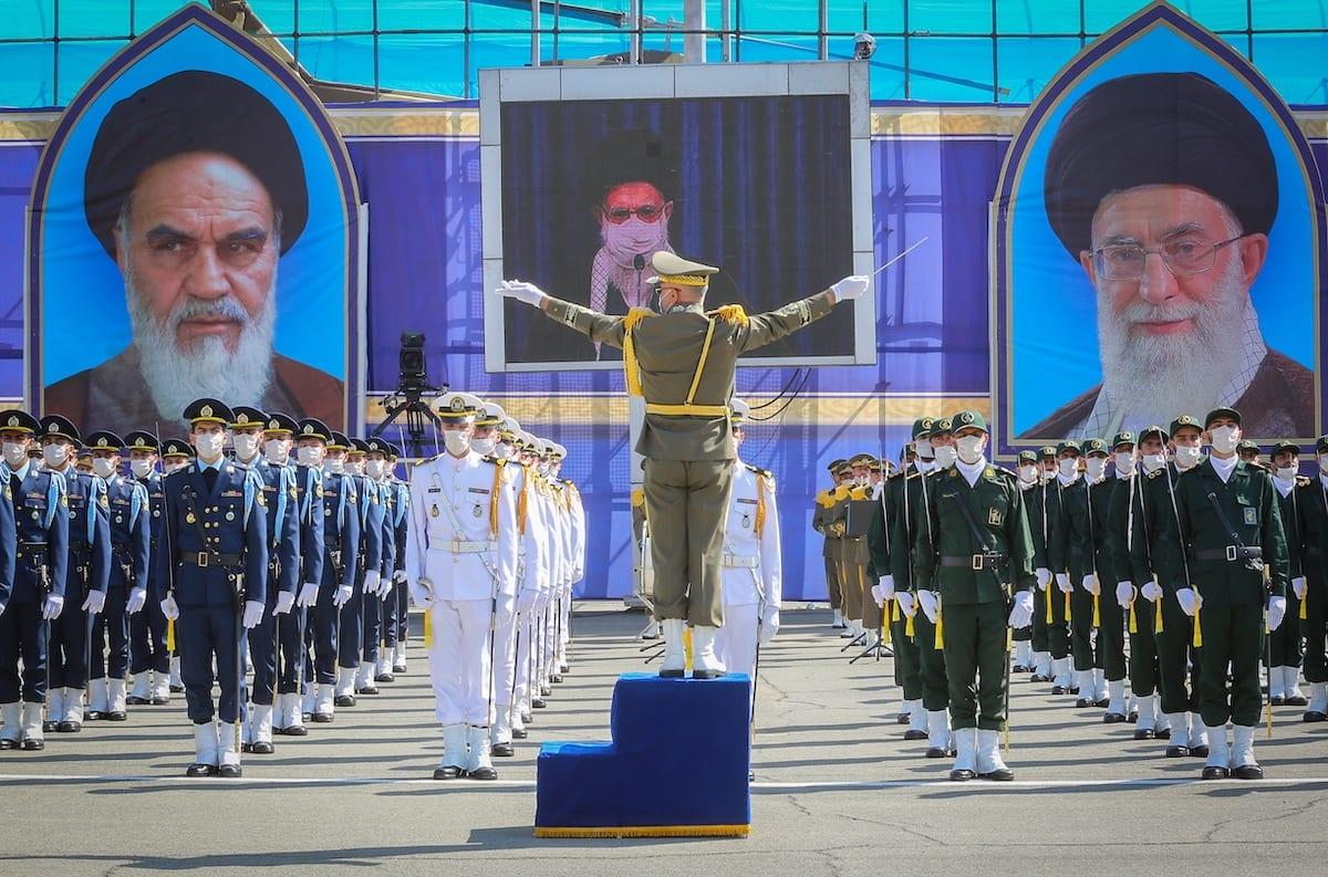 Iranian Supreme Leader Ali Khamenei attends a graduation ceremony at Imam Ali Military Academy via video conference in Tehran, Iran on 12 October 2020. [Iranian Leader Press Office - Anadolu Agency]