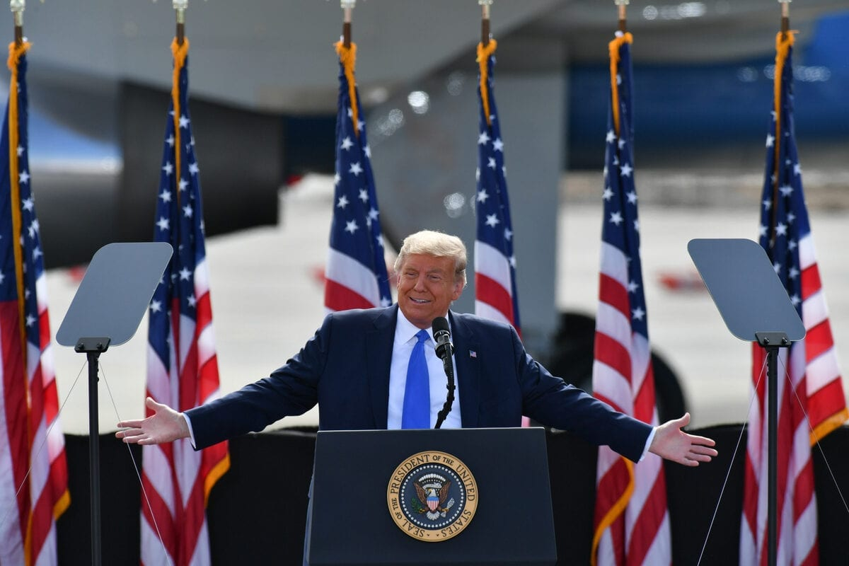 President Donald J. Trump in Greenville, NC United States on 15 October 2020 [Peter Zay - Anadolu Agency]