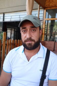 Ali Al-Hosni's younger brother died trying to escape poverty in Tripoli, taken on 24 September 2020
