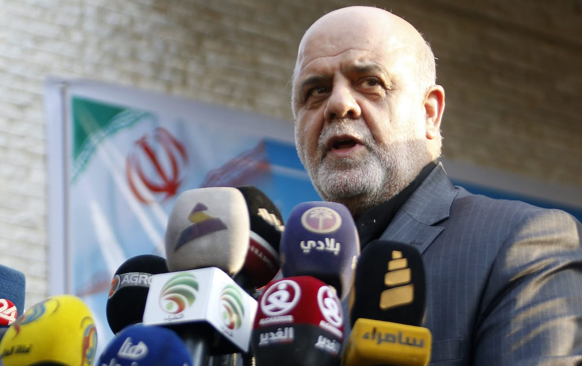 Iranian ambassador in Iraq Iraj Masjedi gives a press conference in Basra on September 11, 2018 [HAIDAR MOHAMMED ALI/AFP via Getty Images]