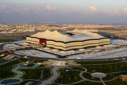 A general view Al Bayt Stadium on 19 December 2019 at Al Khor City, Qatar. [Marcio Machado/Eurasia Sport Images/Getty Images]