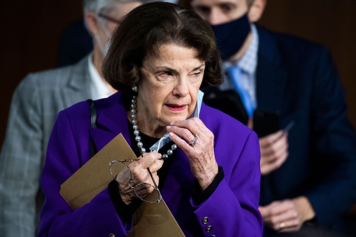 Ranking member Sen. Dianne Feinstein, D-Calif. in Hart Senate Office Building on October 15, 2020 in Washington, DC. [TOM WILLIAMS/POOL/AFP via Getty Images]