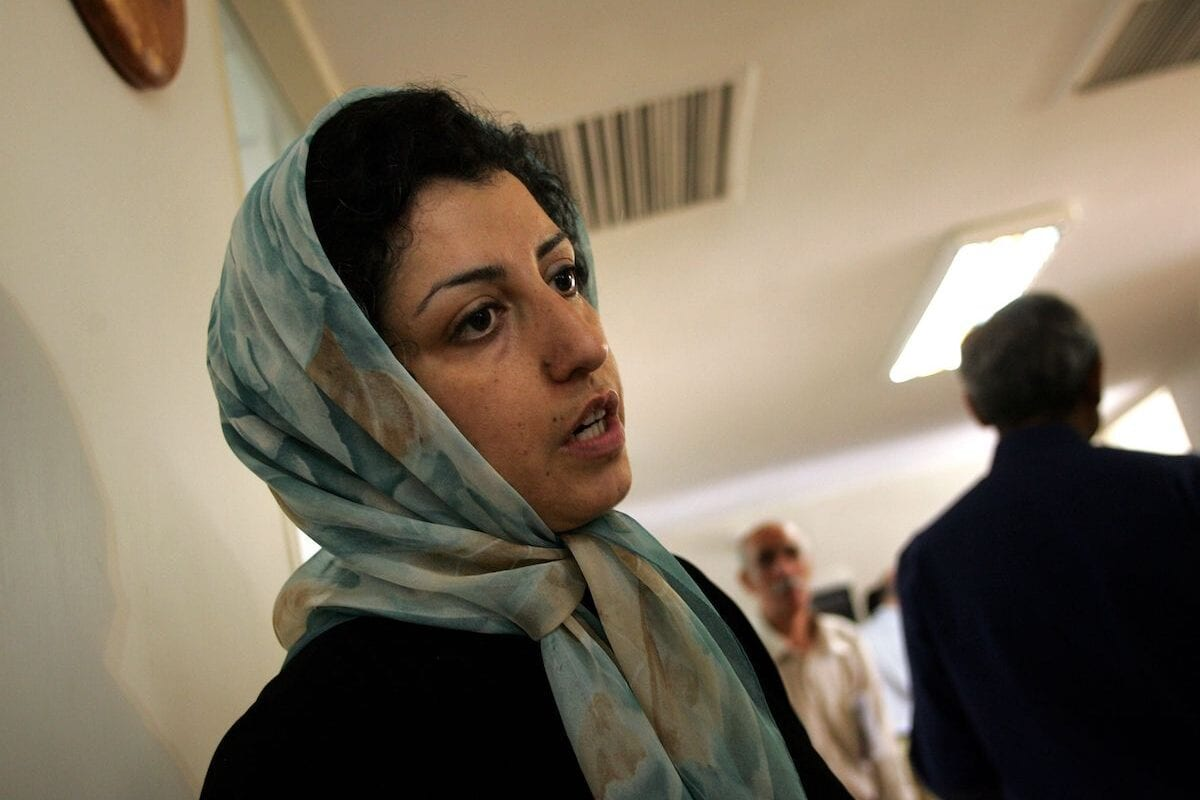 Iranian opposition human rights activist, Narges Mohammadi, at the Defenders of Human Rights Center in Tehran. on 25 June 2007 [BEHROUZ MEHRI/AFP via Getty Images]