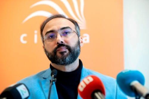 Arab pro-democracy activist, author and blogger Iyad Al-Baghdadi on 13 May 2019 [RYAN KELLY/AFP/Getty Images]