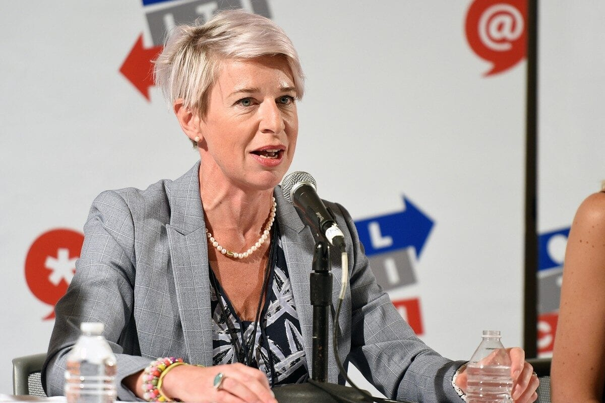 Katie Hopkins at Pasadena Convention Center in California, US on 29 July 2017 [Joshua Blanchard/Getty Images for Politicon]