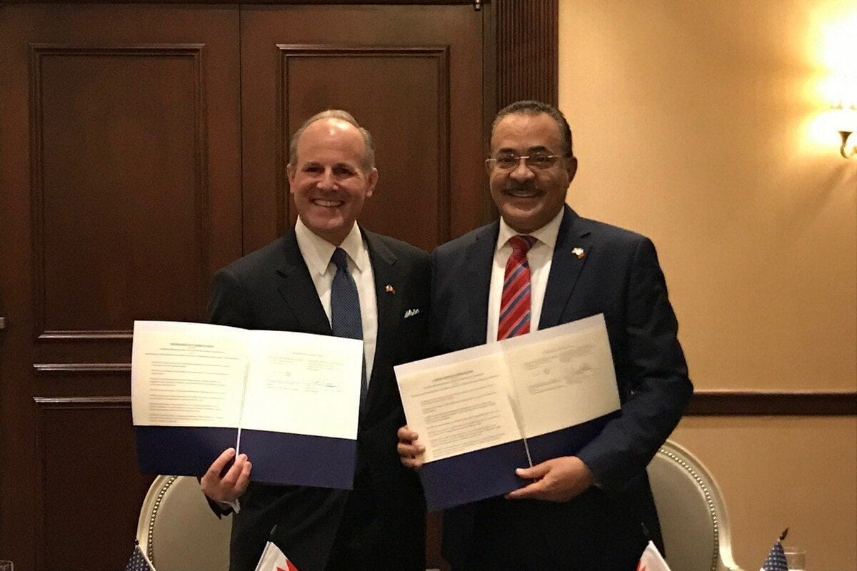 US and Bahrain sign a deal to combat anti-Semitism on 23 October 2020 [USEAntiSemitism/Twitter]