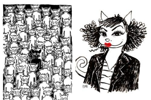 Nadia Khiari's satirical cats