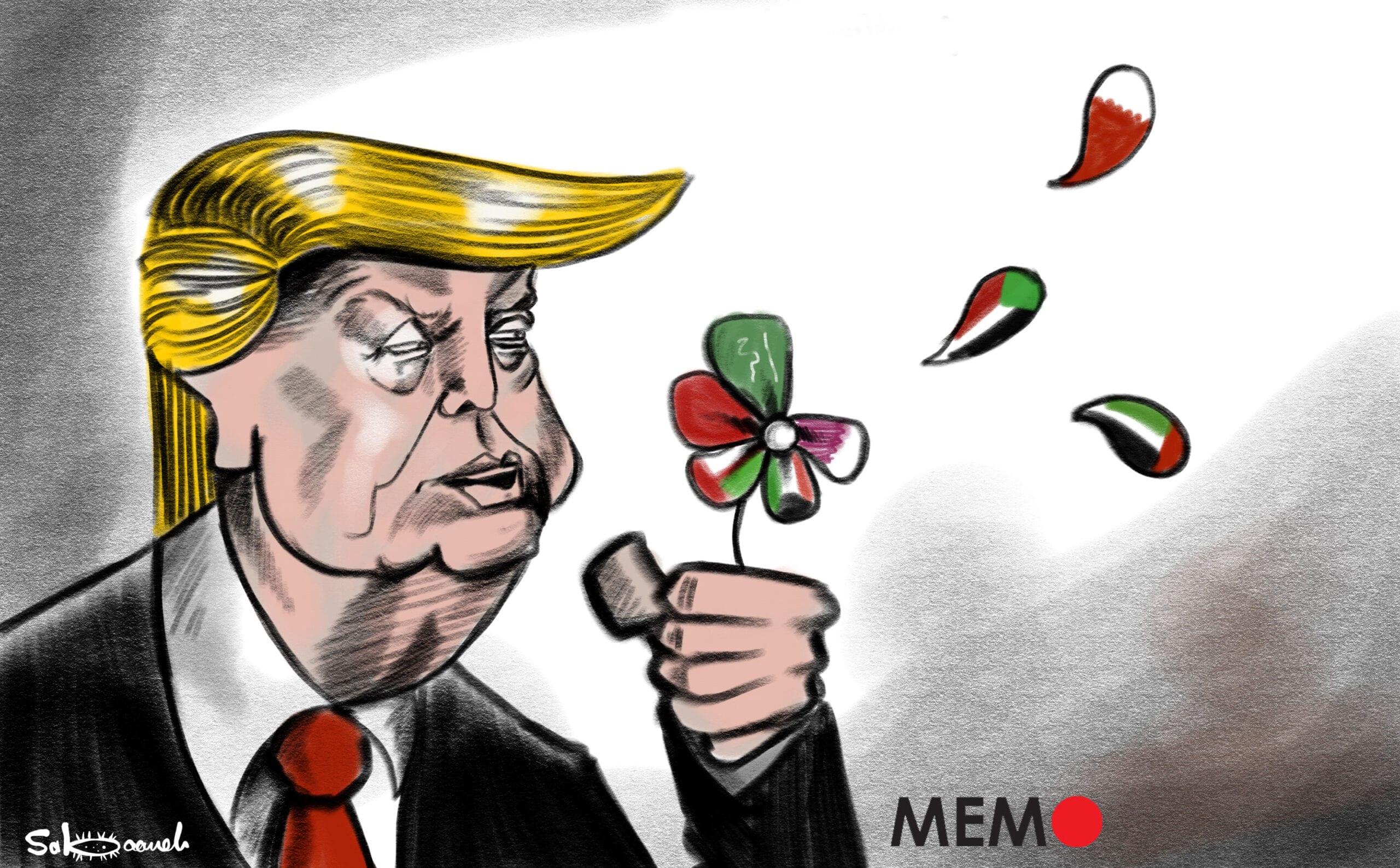 Normalisation with Israel. Who's next? ... - Cartoon [Sabaaneh/MiddleEastMonitor]