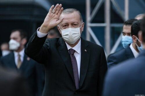 President of Turkey Recep Tayyip Erdogan in Samsun, Turkey on 1 November 2020 [Metin Aktaş/Anadolu Agency]