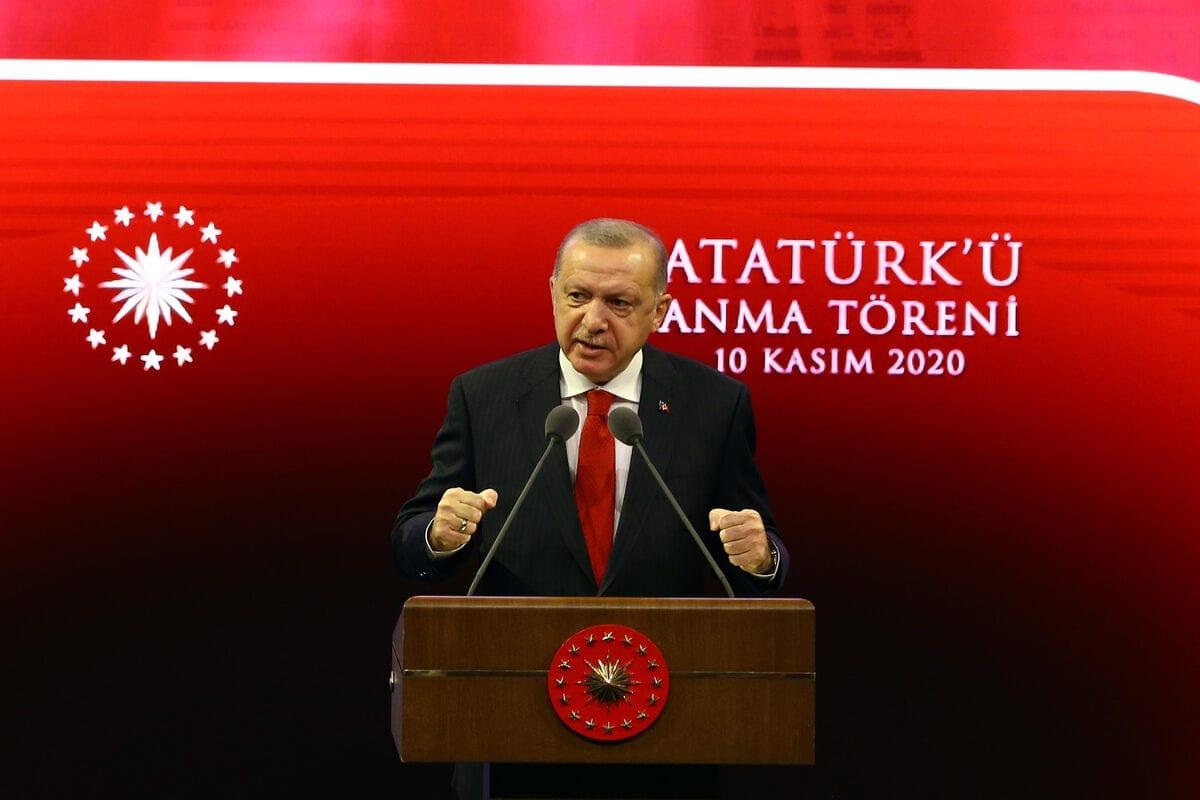 Turkish President Recep Tayyip Erdogan in Ankara, Turkey on November 10, 2020 [Halil Sağırkaya/Anadolu Agency]