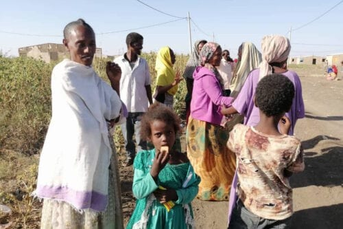 Ethiopians, who fled the conflict in the Tigray region in northern Ethiopia due to the clashes in the operation launched by the Federal Government Forces against the Tigray People's Liberation Front (TPLF), reach Al Qadarif State, Sudan on November 14, 2020 [Stringer/Anadolu Agency]