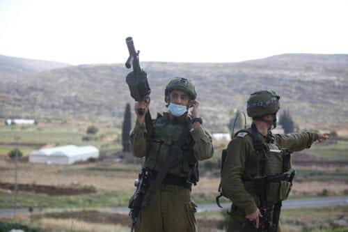 Israeli forces in Ramallah, West Bank on 27 November 2020 [Issam Rimawi/Anadolu Agency]