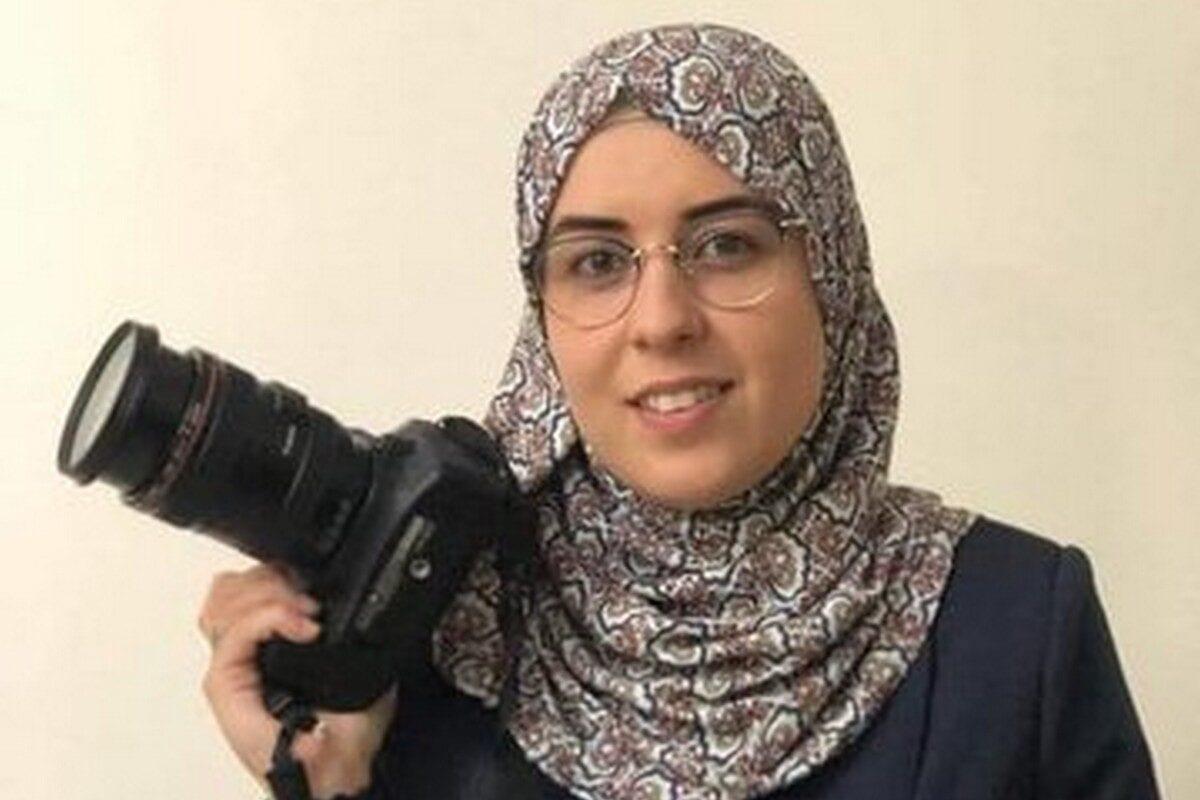 Palestinian journalist and activist, Bushra Al-Taweel, 9 November 2020 [Mvoice13/Twitter]