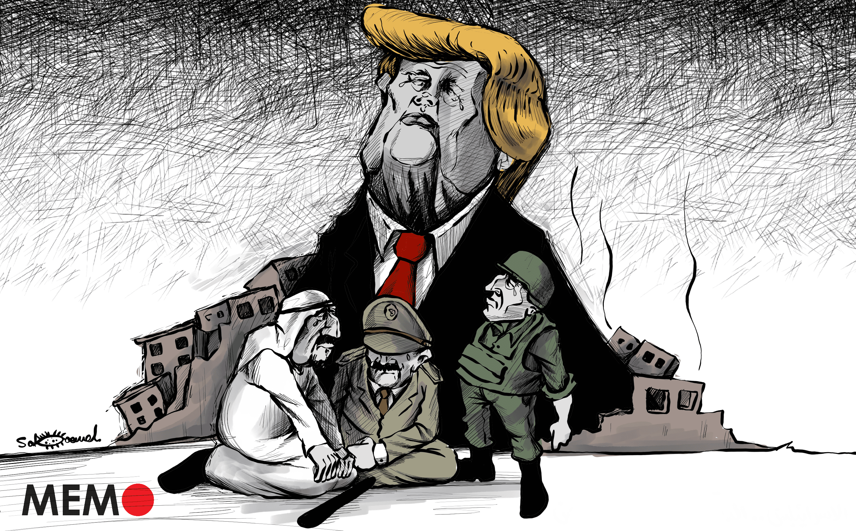 Trump's legacy in the Middle East - Cartoon [Sabaaneh/MiddleEastMonitor]