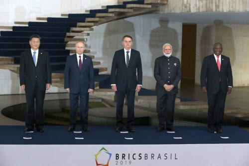 Leaders of Russia, China, Brazil, India and South Africa have gathered in Brasila for the BRICS Leaders Summit, in Brasilia, Brazil, November,13,2019. [Mikhail Svetlov/Getty Images]