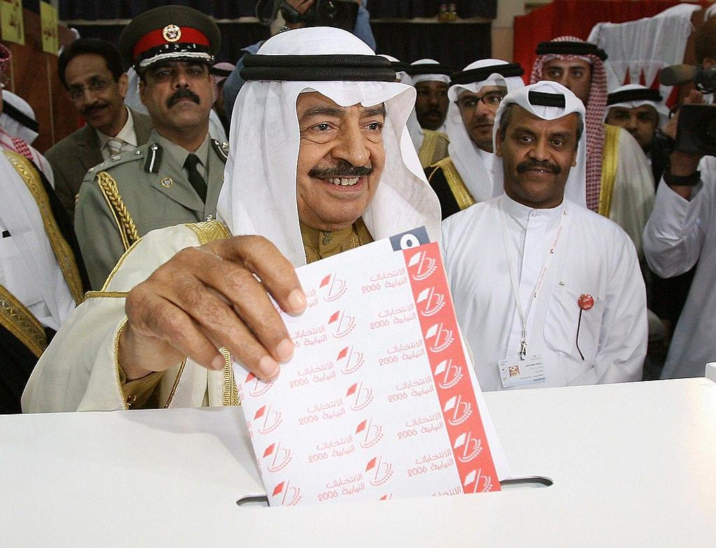 Bahrain's Prime Minister Sheikh Khalifa bin Salman Al-Khalifa on 25 November 2006 [KARIM SAHIB/AFP via Getty Images]
