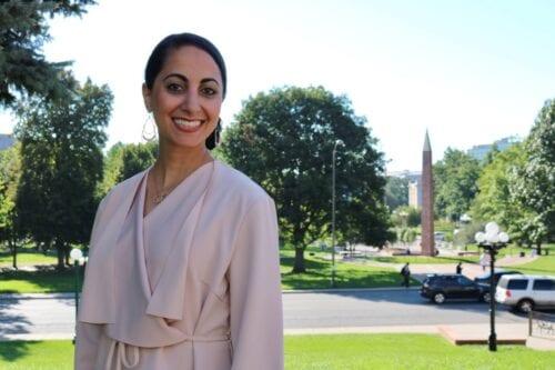 Palestinian congresswoman Iman Jodeh [Iman Jodeh/Facebook]