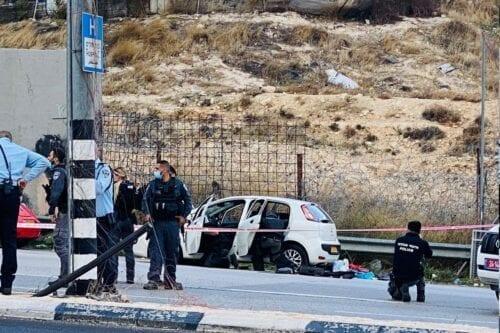 Israel soldiers shot and killed a Palestinian man at Al-Zaeem checkpoint, 25 November 2020 [manniefabian/Twitter]