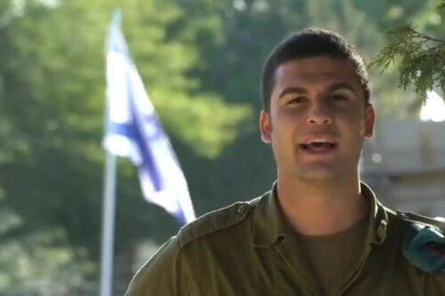A screengrab from a video by the Israeli military congratulated Lebanon on its 77thIndependence Day