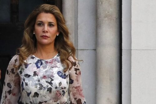 Princess Haya Bint Al-Hussein of Jordan leaves the Royal Courts of Justice in London, UK on 31 July 2019 [ADRIAN DENNIS/AFP/Getty Images]