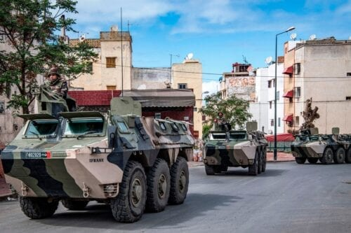 Moroccan military in Rabat, Morocco on 22 March 2020 [FADEL SENNA/AFP/Getty Images]