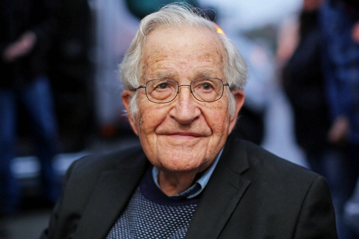 US linguist and political activist Noam Chomsky in Curitiba, Brazil on 20 September 2018 [HEULER ANDREY/AFP/Getty Images]