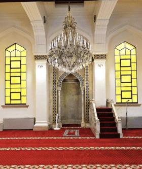The main prayer hall at Kobe Mosque, Japan