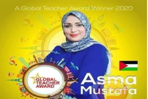Asma Mustafa, an English Teacher in Halima Al Saadia Intermediate School for Girls won the Global Teacher Award 2020 [Twitter]