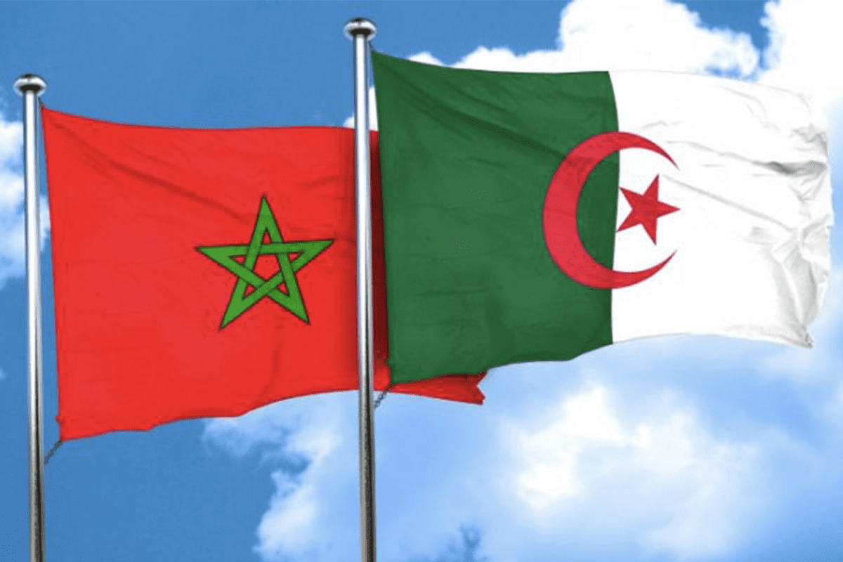 Algerian and Moroccan flags [Alquds]