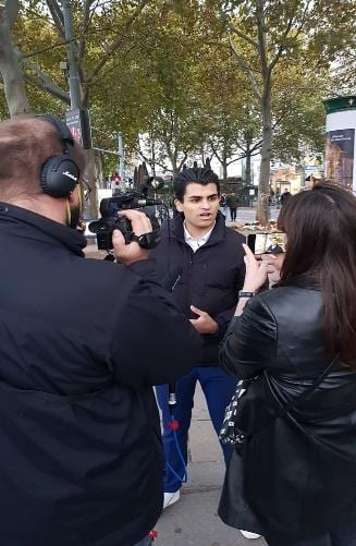 Joda speaking to the media after the incident (Special Archive)