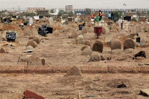 A cemetery in Khartoum, Sudan on 13 June 2020 [AFP/Getty Images]