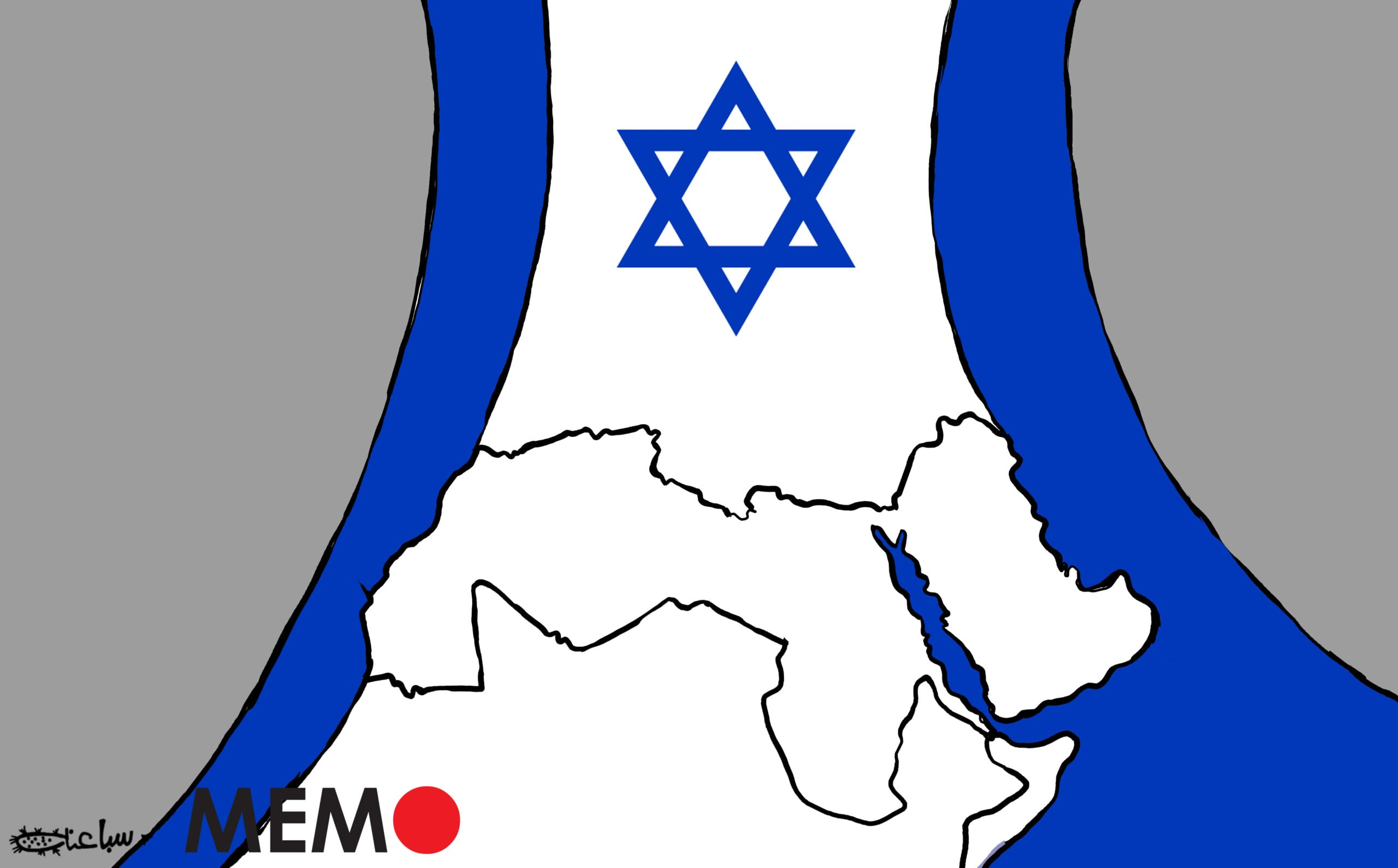 A growing number of countries in the MENA region are normalising ties with Israel - Cartoon [Sabaaneh/MiddleEastMonitor]