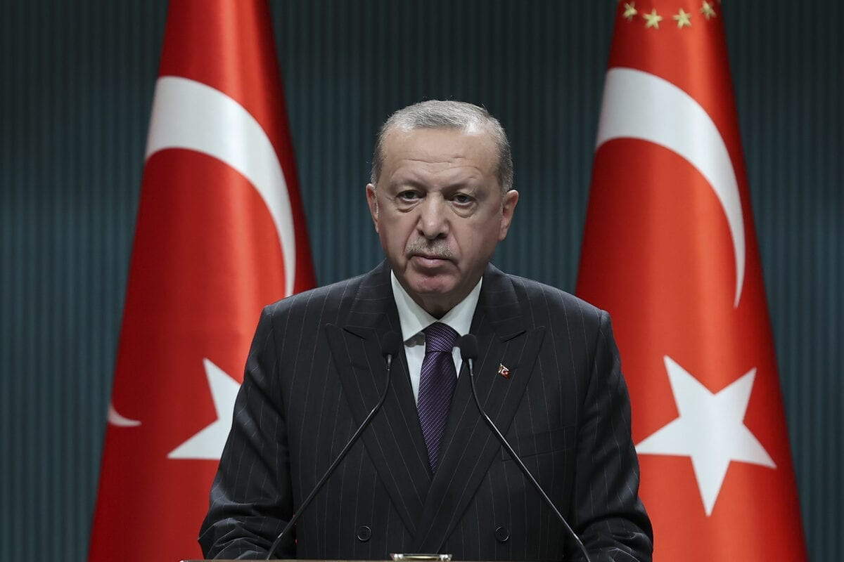 President of Turkey Recep Tayyip Erdogan makes statements after chairing Cabinet meeting, in Ankara, Turkey on December 14, 202 [Doğukan Keskinkılıç / Anadolu Agency]