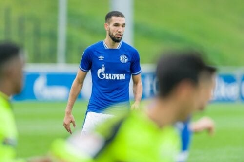 Footballer Nabil Bentaleb at a footmall match in in Gelsenkirchen, Germany on 8 October 2020 [Mario Hommes/DeFodi Images/Getty Images]