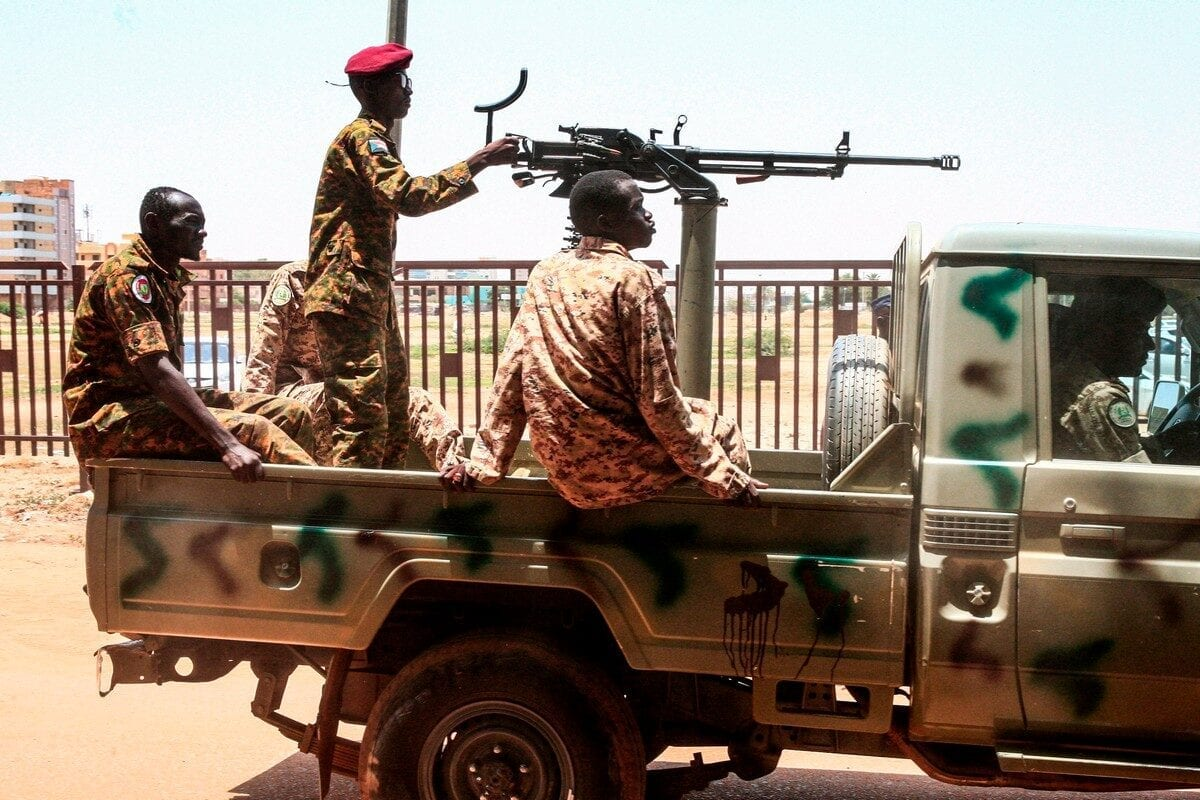Sudanese army soldiers in Sudan on 31 August 2019 [EBRAHIM HAMID/AFP/Getty Images]