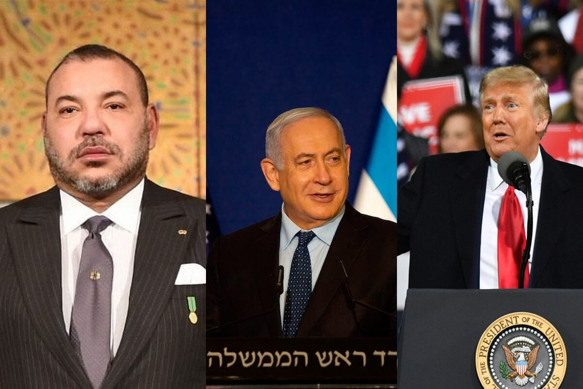 Moroccan King Mohammed VI (L), Israel's PM Netanyahu, (C) US President Donald Trump (R) have agreed to normalise relations [COP22/Twitter] [MAYA ALLERUZZO/POOL/AFP via Getty Images] [Peter Zay - Anadolu Agency]